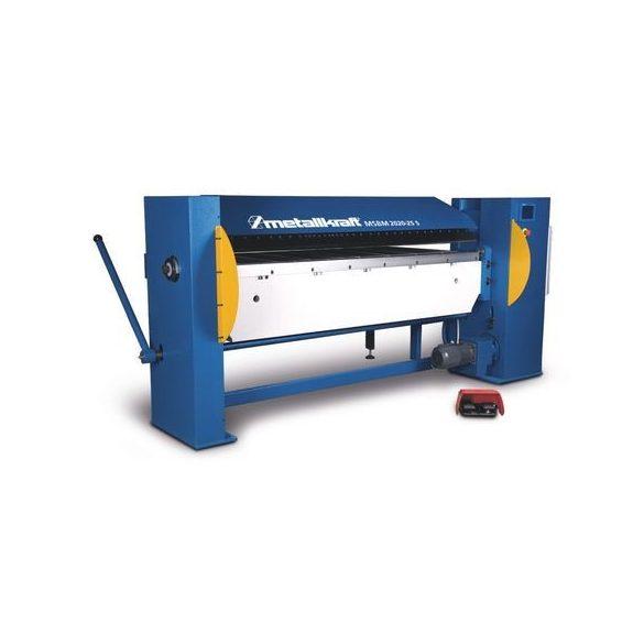 METALLKRAFT MSBM 2020-25 SH Motorrásegítéses lemezhajlító gép szegmenses, magas felsőpofával - 2020/2,5mm